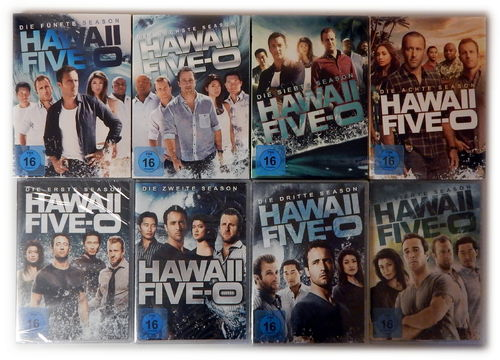 Hawaii Five-0 (5-0) Set - Die komplette Staffel/Season 1,2,3,4,5,6,7,8 [DVD] 1-8