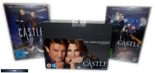 Castle - Die komplette Serie Staffel/Season 1,2,3,4,5,6,7,8 (1-8) [DVD](Deutscher Ton) EU-Import