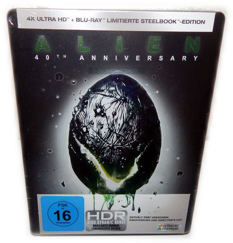 Alien [4K Ultra HD+Blu-Ray] 40th Anniversary 2-Disc limited Steelbook