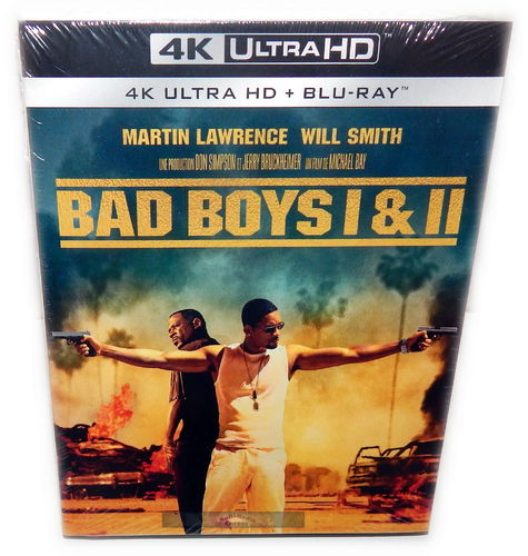 Bad Boys 1+2 Box-Set (uncut, Teil 2 Extended Cut)[4K UHD+Blu-Ray](Deutscher Ton)
