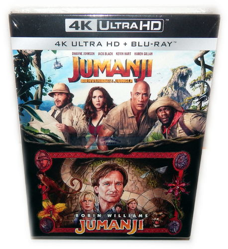 Jumanji Box-Set [4K Ultra HD] (1+2) Williams Johnson (Deutscher Ton)