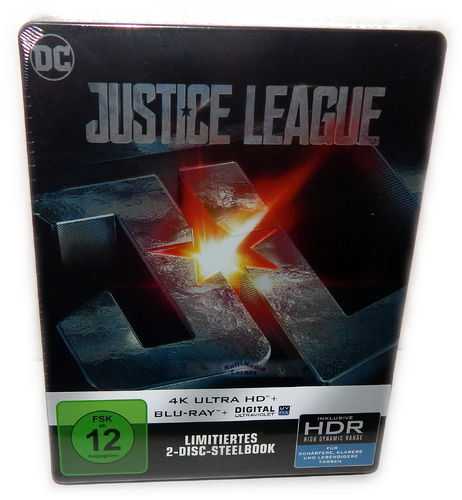 Justice League [4K Ultra HD+Blu-Ray] 2-Disc Steelbook (inkl. UV-Copy)